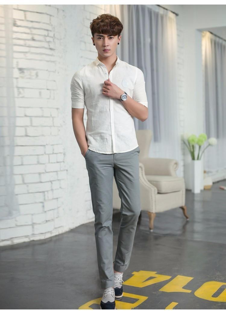 Mix quần kaki kết hợp với áo sơ mi